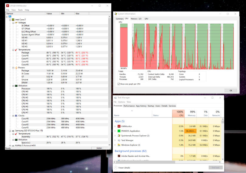 Test 3 Hardware Results, New Hardware