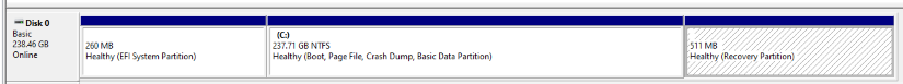 SSD Partitions Before Migration