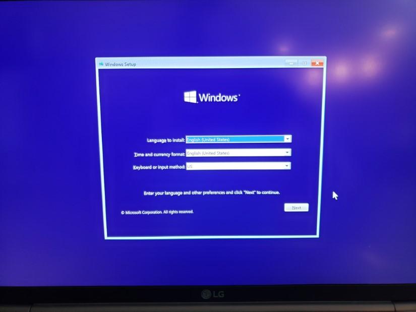 Windows 10 boot menu